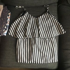 Charlotte Russe Striped Tank Top